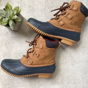 Tommy Hilfiger Brown Duck Boot
